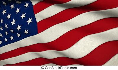 réaliste, drapeau, tissu, usa