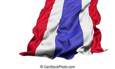 réaliste, drapeau, vent, thaïlande
