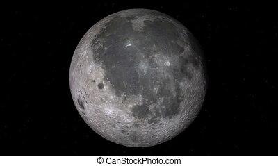 réaliste, entiers, filer, étoiles, lune