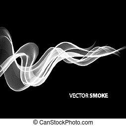 réaliste, fumée noire, fond, vecteur