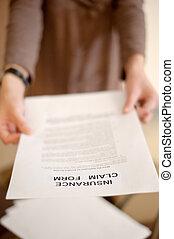 réclamation, assurance, formulaire
