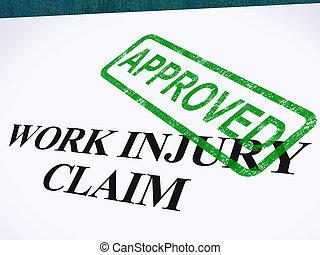 réclamation, monde médical, travail, dépenses, repaid, blessure, approuvé, spectacles