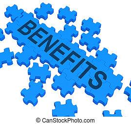 récompenses, puzzle, spectacles, avantages, compagnie