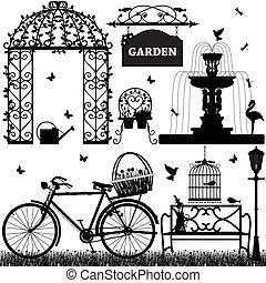 récréatif, parc, jardin