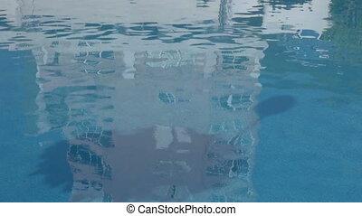 réflexion eau, bâtiment