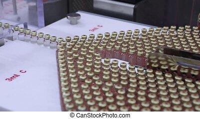répandre, cartouche, pharmaceutique, equipment., insuline, ligne., production, unique, production., ml, plant., 3, dernier