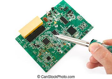 réparation, électronique, appareils