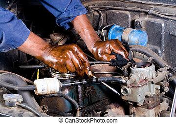 réparation, mécanicien, véhicule