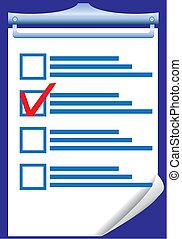 réponse, illustration, vecteur, droit, vérification, vide