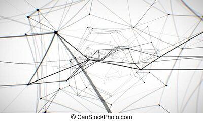 réseau, animation., résumé, fait boucle