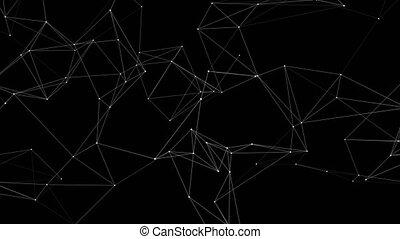 réseau, concept, boucle, fond, résumé, avenir, 3d, technologie