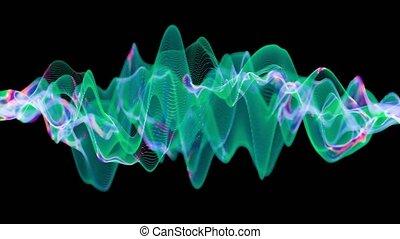 réseau, couleur, synapses., neuronal, activité, actif, changer