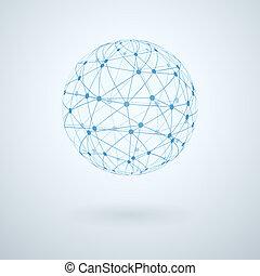 réseau global, icône