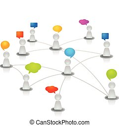 réseau, humain