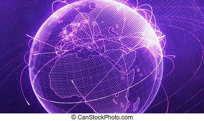 réseau, particule, pourpre, global, -, version, croissant, mondiale