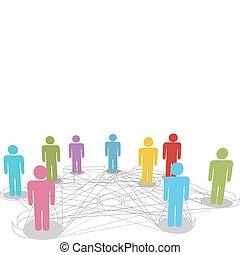réseau, professionnels, connexions, relier, social, ligne
