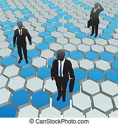 réseau, professionnels, média, social, hexagone
