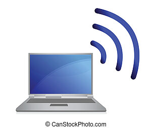 réseau, sans fil, wi-fi