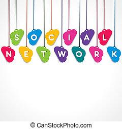 réseau, social, concept