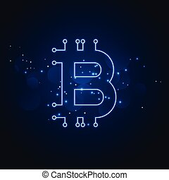 réseau, technologie, bitcoin, fond, numérique
