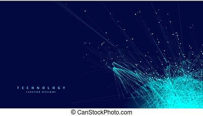 réseau, technologie, maille, fond, numérique, données