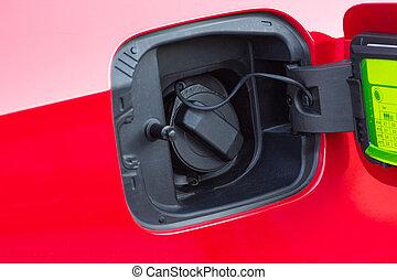 réservoir, collection., fueling, essence, theme., -, close-up., voiture, transport, photo
