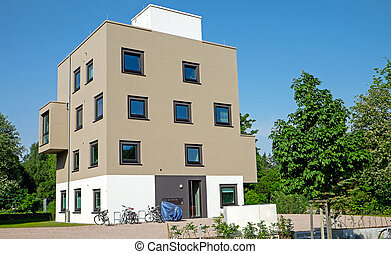 résidence, moderne, multi-family