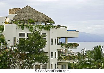 résidentiel, architecture, tropiques
