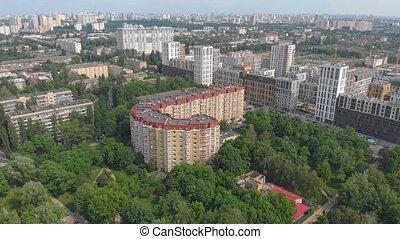 résidentiel, bâtiment, orange