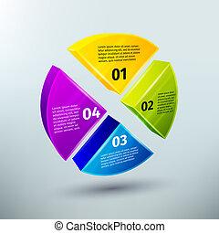 résumé, éléments, conception, business, infographics