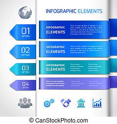 résumé, éléments, conception, infographics