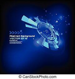 résumé, -, élevé, vecteur, technologie, fond, conception, futuriste