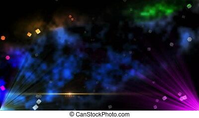 résumé, étape, couleur, 4k, brouillard, lumière