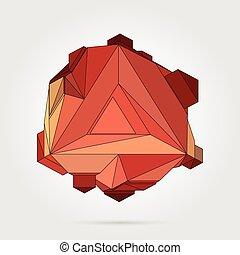 résumé, 3d, illustration., vector., géométrique