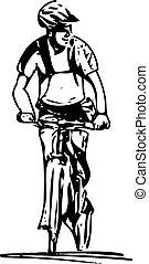 résumé, allonge bicyclette, fond
