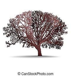 résumé, arbre, fond, nature