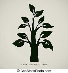 résumé, arbre, icône