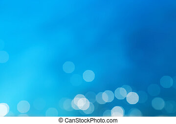 résumé, arrière-plan bleu, bokeh, barbouillage