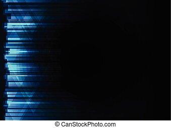 résumé, arrière-plan bleu, ligne, barre, triangle
