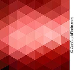 résumé, arrière-plan rouge, géométrique
