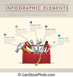 résumé, boîte outils, thème, infographics