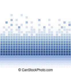 résumé, carrée, eau, pixel, mosaïque