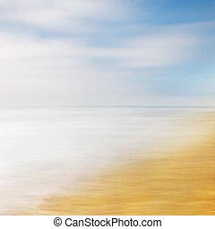 résumé, ciel, mer