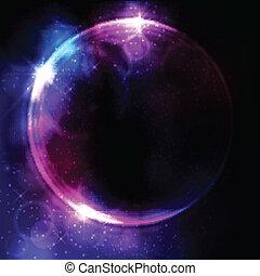 résumé, circulaire, conception, espace