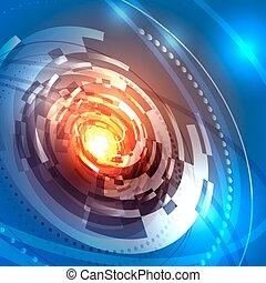 résumé, circulaire, vaisseau spatial