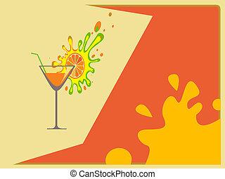 résumé, cocktail, fond