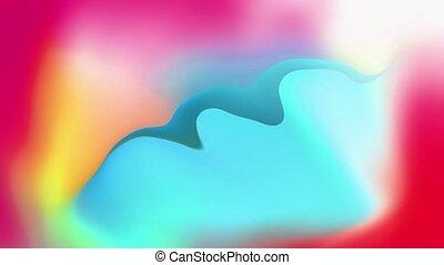 résumé, coloré, gradient, liquide, animation., fond, seamless, fait boucle