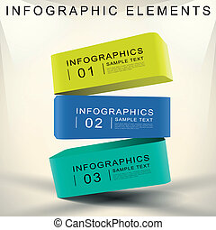 résumé, cube, 3d, infographics