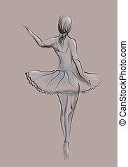 résumé, danseur, ballet