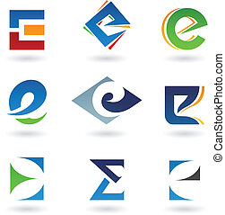 résumé, e, lettre, icônes